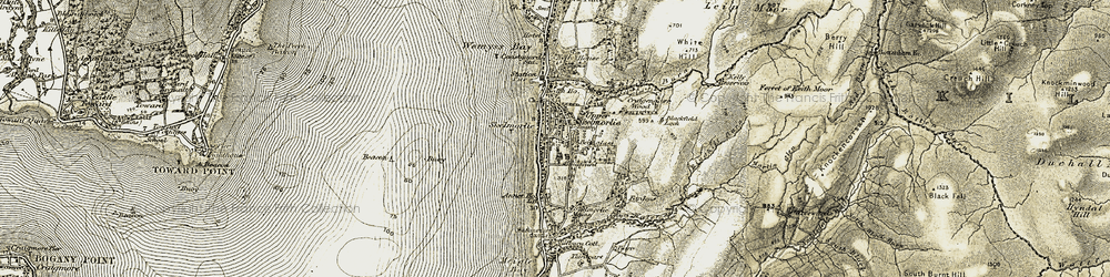 Old map of Skelmorlie in 1905-1906