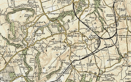 Old map of Skelton in 1903-1904