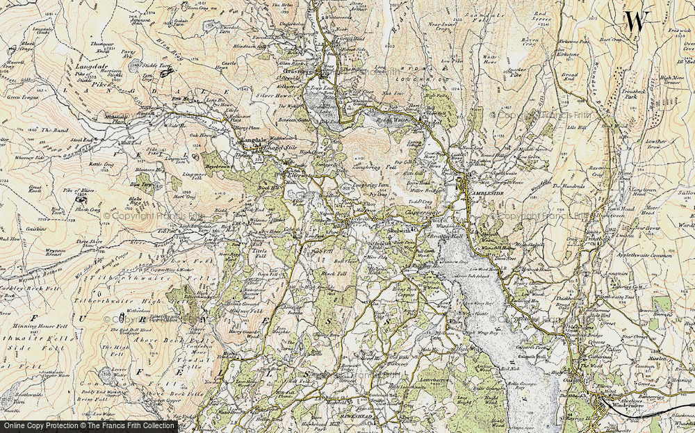 Old Map of Historic Map covering Ashley Green in 1903-1904