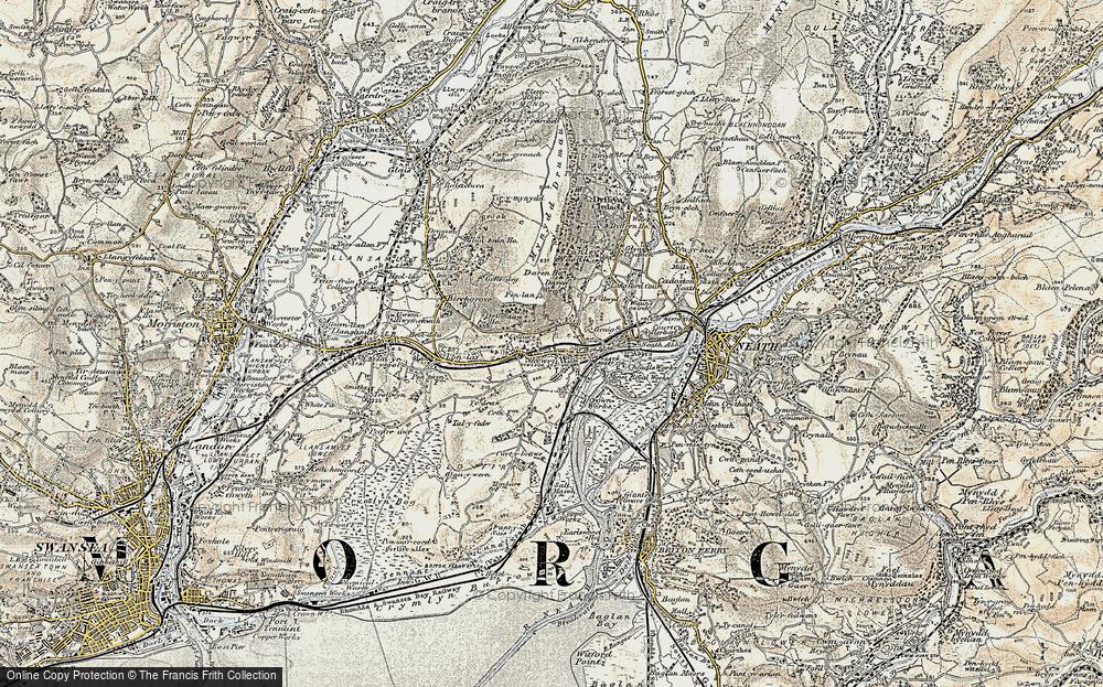Old Map of Skewen, 1900-1901 in 1900-1901