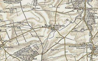 Old map of Skillington in 1901-1903