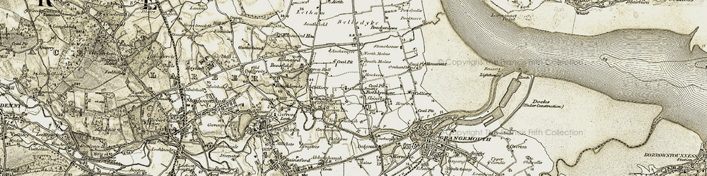 Old map of Yonderhaugh in 1904-1906