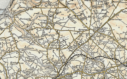Old map of Skinner's Bottom in 1900
