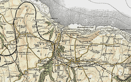 Old map of Skinningrove in 1903-1904