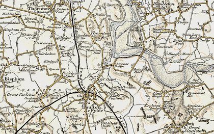 Old map of Wyre Way in 1903-1904
