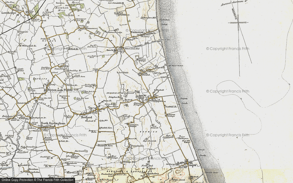 Old Map of Skipsea, 1903-1904 in 1903-1904