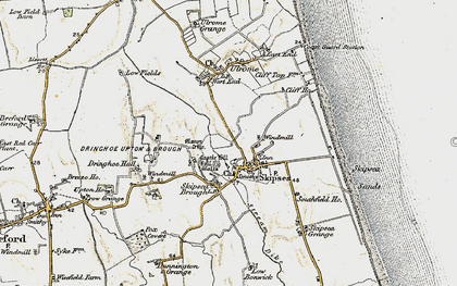 Old map of Skipsea in 1903-1904