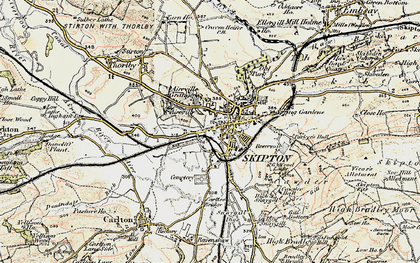 Old map of Skipton in 1903-1904