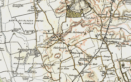 Old map of Skirlaugh in 1903-1908