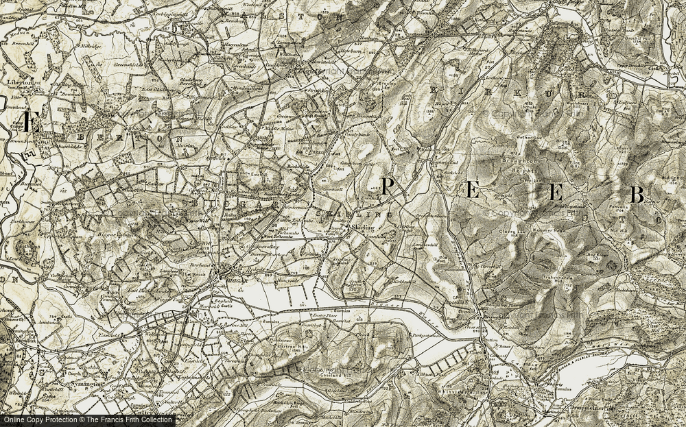 Old Map of Historic Map covering Backshiels in 1904-1905