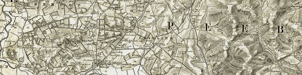 Old map of Whinnybrae in 1904-1905
