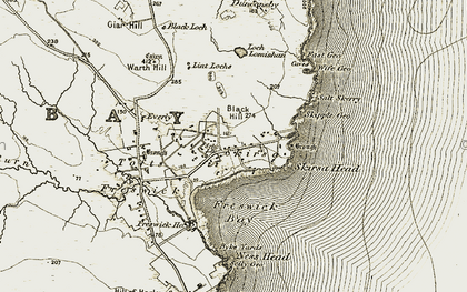 Old map of Wife Geo in 1911-1912