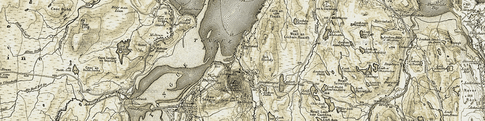 Old map of Tongue Bay in 1910-1912
