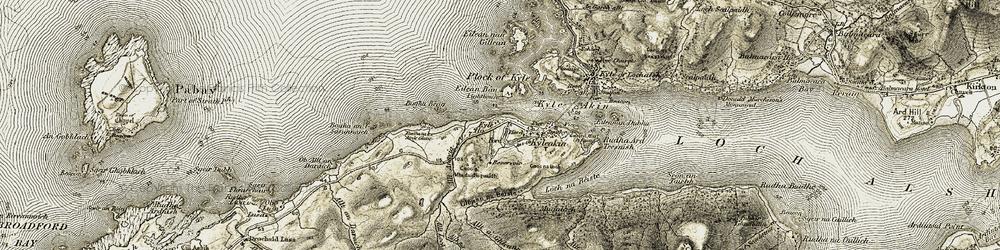 Old map of Allt Lochain na Sàile in 1908-1909