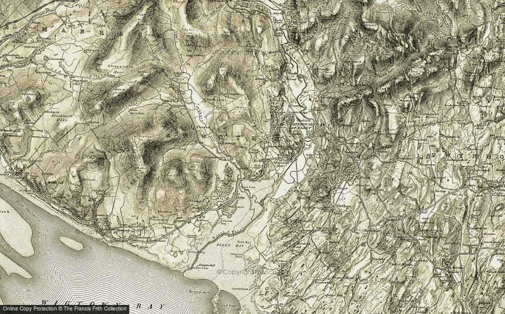 Old Map of Historic Map covering Lauchentyre in 1905