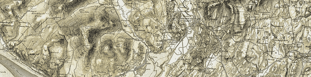Old map of Whiteside Burn in 1905