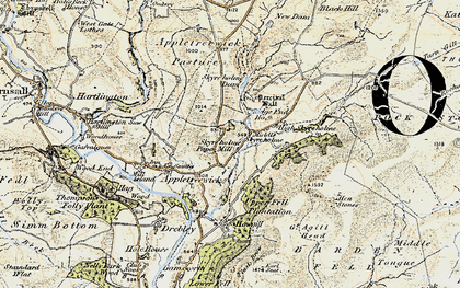 Old map of Whithill in 1903-1904