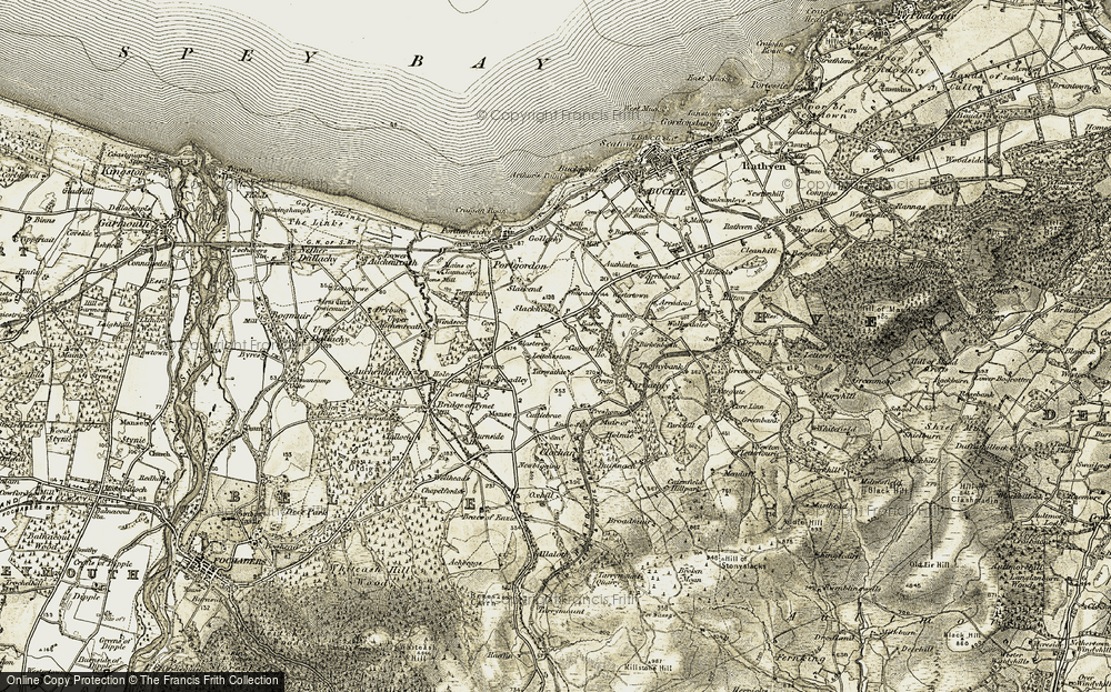 Old Map of Historic Map covering Leitcheston in 1910