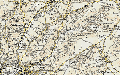 Old map of Slad in 1898-1900