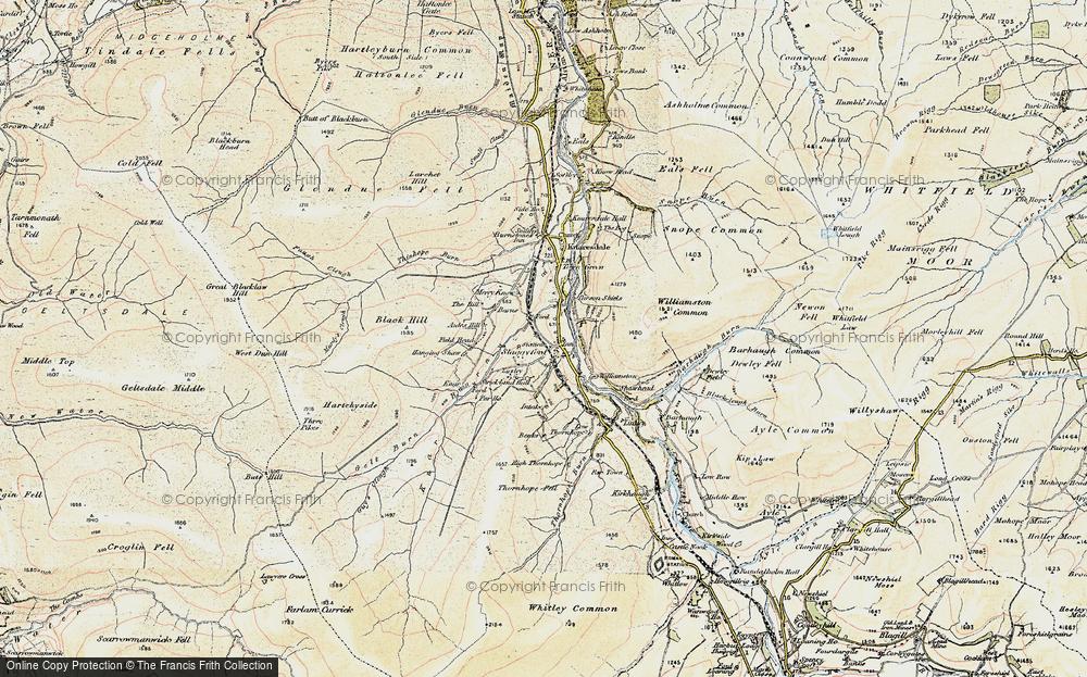 Old Map of Historic Map covering Barhaugh Burn in 1901-1904