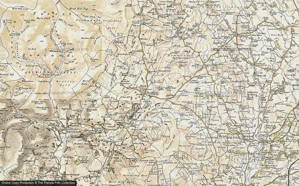 Old Map of Slaidburn, 1903-1904 in 1903-1904