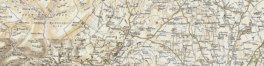 Old map of Whiteholme in 1903-1904