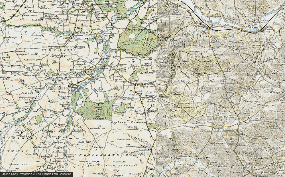 Old Map of Historic Map covering Todburn Steel in 1901-1904