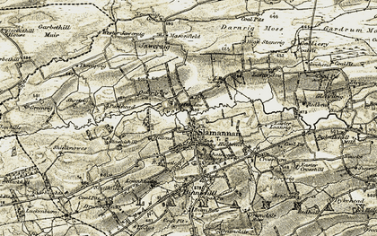 Old map of Wester Jaw in 1904-1905