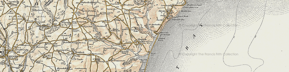 Old map of Slapton in 1899