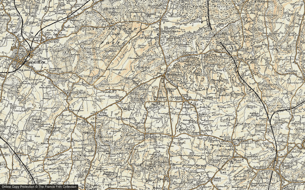 Old Map of Historic Map covering Ashfold in 1898
