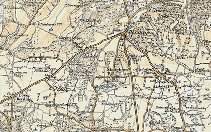 Old map of Slaugham in 1898