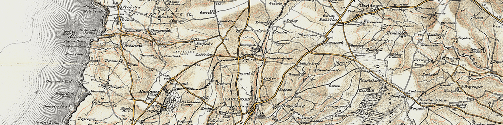 Old map of Worthyvale Manor in 1900