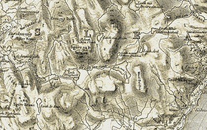 Old map of Allt Loch nan Uamh in 1906-1908