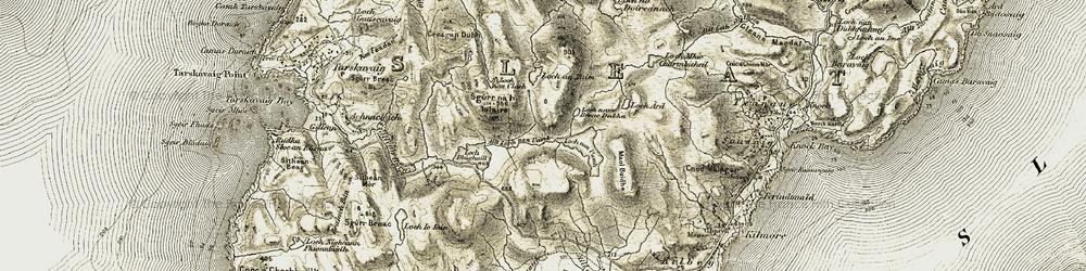 Old map of Allt Loch nan Uamh in 1906-1908