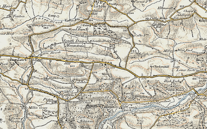 Old map of Wiston Wood in 1901-1912