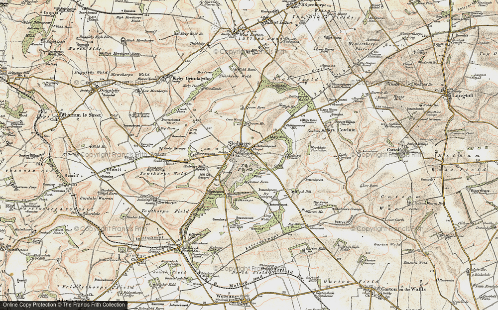 Old Map of Historic Map covering Wood Dale Plantn in 1903-1904