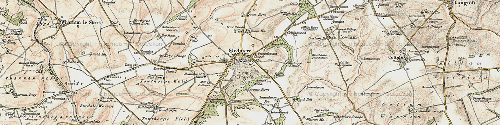 Old map of Wood Dale Plantn in 1903-1904