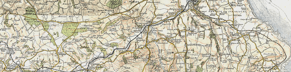 Old map of Woodlands in 1903-1904