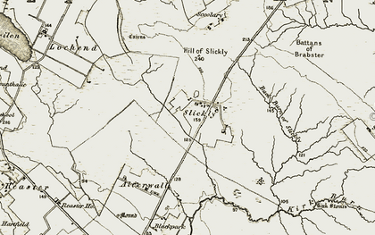 Old map of Link Burn in 1912
