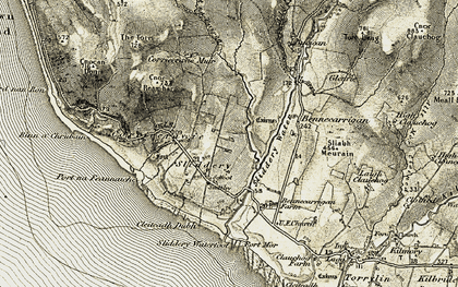 Old map of Lean a' Chneamh in 1905-1906