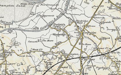 Old map of Slimbridge in 1898-1900