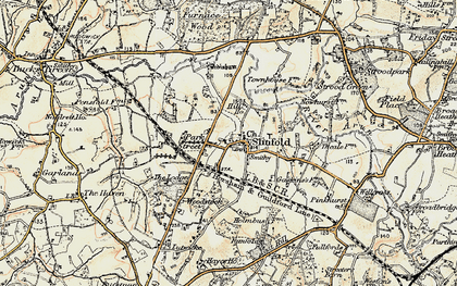 Old map of Slinfold in 1898