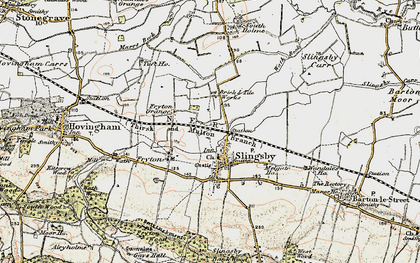 Old map of Slingsby in 1903-1904