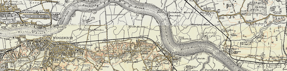 Old map of Sloane Square in 1898