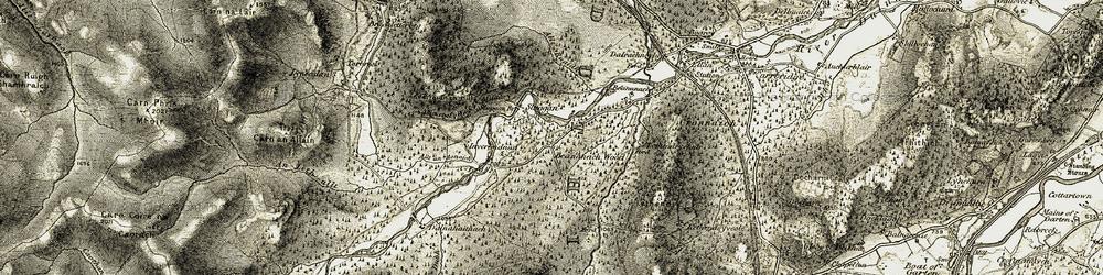 Old map of Allt an Aonaich in 1908-1912
