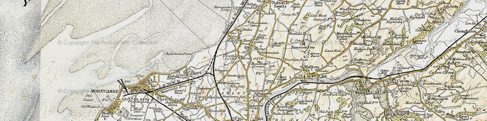 Old map of Ancliffe Hall in 1903-1904