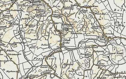 Old map of Small Hythe in 1898