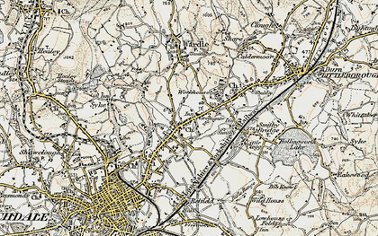 Old map of Smallbridge in 1903