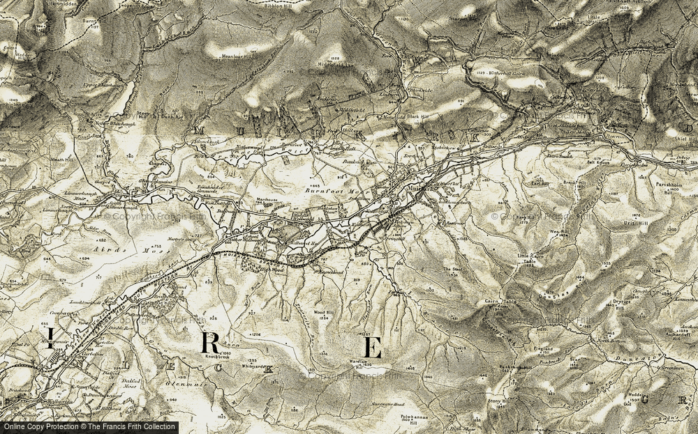 Old Map of Historic Map covering Wood Hill in 1904-1905