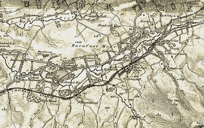 Old map of Wood Hill in 1904-1905